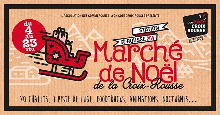 affiche marché de noël croix-rousse 2019